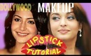 Bollywood Lipstick Tutorial for Fuller Looking Lips (Makeup) Like Anushka Sharma &  Aishwarya Rai