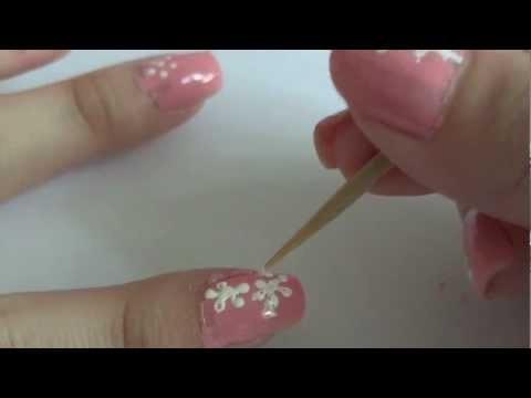 easy spring flower nail art for beginners explained step
