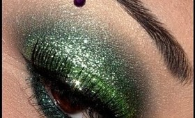 Kenya Michaels Inspired Green Glitter Eyes!!!
