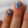 Flower and Butterfly Nail Art