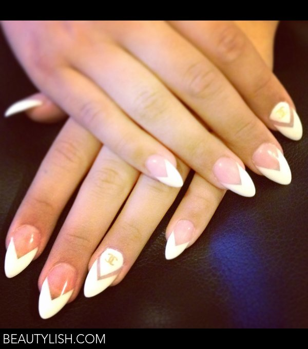 French Chanel Stiletto Nails