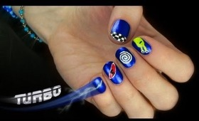 Turbo the Movie Nail Art! Pretty and Cute Cartoon Nail Design.