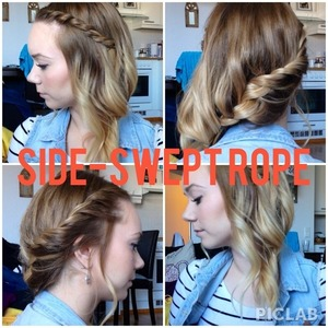 Hairstyle of the day :) Ropes and twists!