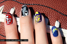 Sporty Nails We Love!