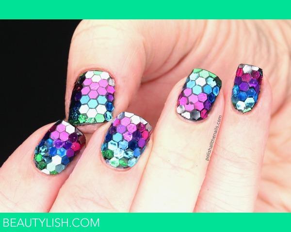 Rainbow Fish Makeup Rainbow Fish Nails