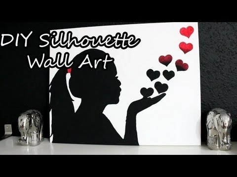 Silhouette Wall Art Diy Diy Silhouette Wall Art