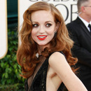 Jayma Mays at the 2011 Golden Globes (Source: celeb-source.com)