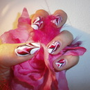 WaterMarble Red,White and Pink