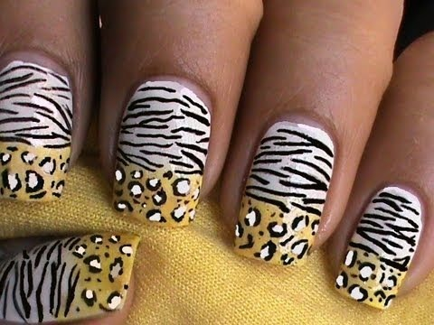 Leopard Nails Zebra Nail Art Designs Ombre Gradient How To With