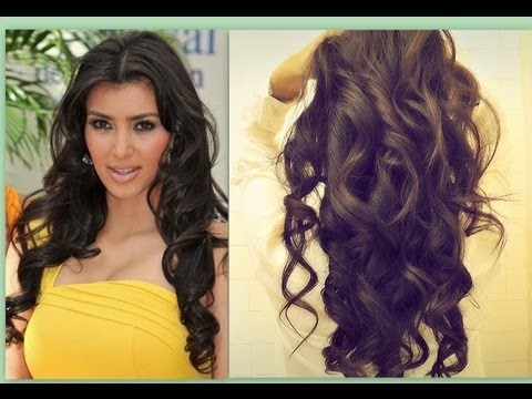 KIM KARDASHIAN HAIR | HOW TO CURL LONG HAIR TUTORIAL | BIG, SEXY,