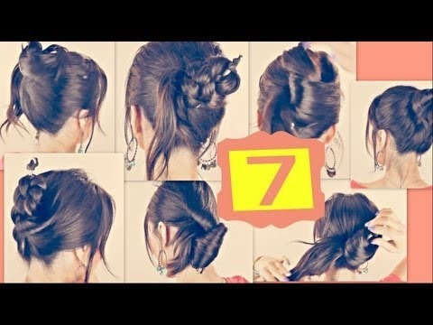 ☆7 EASY HAIRSTYLES WITH JUST A PENCIL! LONG HAIR TUTORIAL   UPDOS BUNS  PONYTAILS BRAIDS FOR SCHOOL