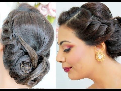 Long Hair | Side Braid | Low Roll | Elegant Grecian | Wedding Prom ...