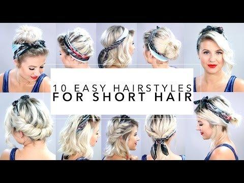 10 Easy Hairstyles for Short Hair With Headband | Milabu | Milana B ...