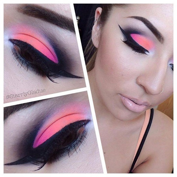 Orange Pink Cut Crease Starrly Gs Starrlygladue Photo