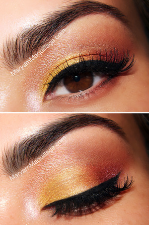 sunny, transitional makeup using eco-friendly eyeshadows from Zosimos Botanicals. All info and HOW-TO are on my blog: http://www.maryammaquillage.com/2012/08/sunny-delightful-eco-friendly.html