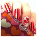 Vday hearts manicure