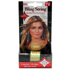Bling String 500' Hair Tinsel with Clips - Gold/Black