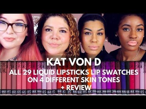 Kat Von D Everlasting Liquid Lipstick Swatches on lips + Review ...