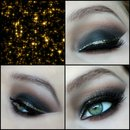 Holiday smokey eyes with gold