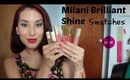 Milani Brilliant Shine Lip Gloss Swatches + Review!