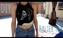 EASY DIY HALTER TOP FROM A TEE SHIRT