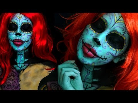 twisted christmas sally the nightmare before christmas makeup tutorial - Sally From Nightmare Before Christmas Makeup