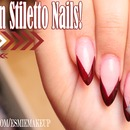Stiletto Chevron Nails!