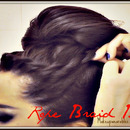 Upside Down Rope Braided Bun Easy Hair Tutorial Video for Medium Long Hair.
