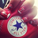 Red Converse Nails