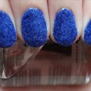 Blue Flocked Nails