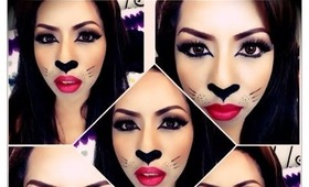 Sexy Cat Makeup tutorial / Cat Makeup Halloween 2013 :)
