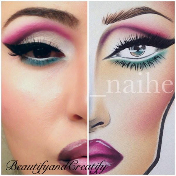 recreation of a face chart beautify and creatify ds
