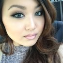 Smokey dark brown eyes and pink ombre lip