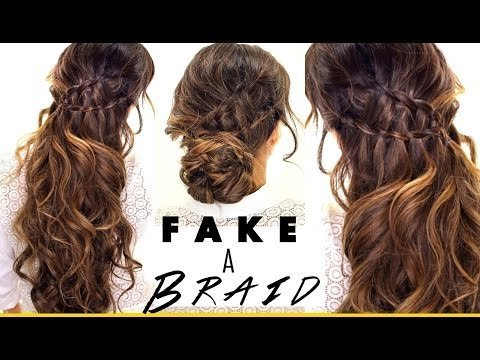 3 Minute 3 Easy Hairstyles Fake Ladder Braids For Medium Long