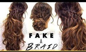 ★ 3-Minute  3 EASY HAIRSTYLES | Fake Ladder-Braids for Medium Long Hair
