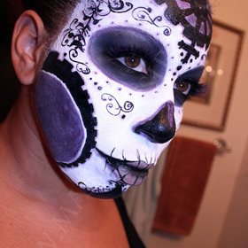 DIA DE LOS MUERTOS MAKEUP INSPIRED BY LA DAMA DE LOS MUERTOS LADY MECHANIKA ART BY JOE BENITEZ!