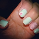 Pearly Flower Nails