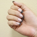 Polka Dot Artificial Nails By California Nails