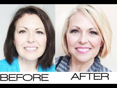 Dark Hair to Blonde Hair Before And After Before After Dark Hair to