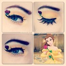 belle Disney makeup look