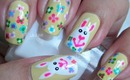 Nail Art - Easter Eggs-Bunnies Decoracion de Uñas Pascua Florida