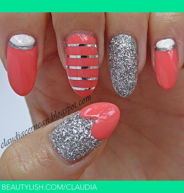 Coral Nails | Claudia C.'s (claudia) Photo | Beautylish
