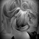 Vintage updo for a christening