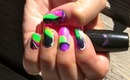Neon lava lamp (water marbling tutorial)