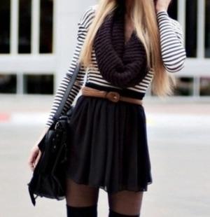 Skater skirt outfits for fall