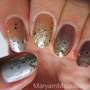 Mixed Metals Ombré Glitter Gradient Nails!