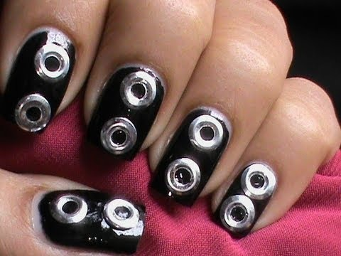 Cute And Sexy Studs Nail Art Silver Metal Nails How To Do Stud Nail