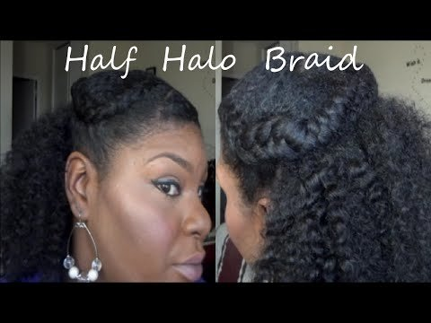 Natural Hair Tutorial Half Halo Braid 2015 Jessibaby901 Video