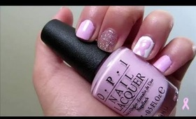 Pink Ribbon Nail Tutorial ❥ Breast Cancer Awareness Month