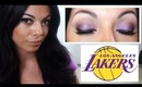 Lakers Inspired Makeup Tutorial - Purple and Gold